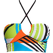 adidas Women's Placed Block Bandeau Swimsuit Top