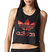 adidas Women's Originals Wild and Free Graphic Cropped Tank Top