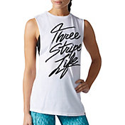 adidas Women's Performer Three Stripe Life Graphic Tank Top