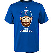 Majestic Youth Chicago Cubs Jake Arrieta Emoji Royal T-Shirt