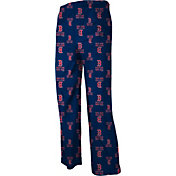 adidas Youth Boston Red Sox Navy Logo Pajama Pants