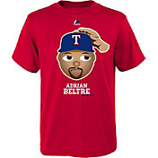 Majestic Youth Texas Rangers Adrian Beltre Emoji Red T-Shirt