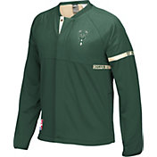 adidas Youth Milwaukee Bucks On-Court Green Jacket