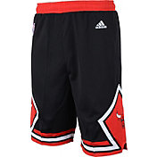 adidas Youth Chicago Bulls Alternate Black Replica Shorts