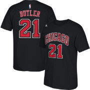 adidas Youth Chicago Bulls Jimmy Butler #21 Black T-Shirt