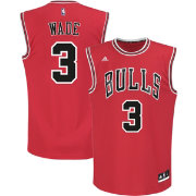 adidas Youth Chicago Bulls Dwyane Wade #3 Road Red Replica Jersey