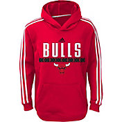 adidas Youth Chicago Bulls Performance Red Pullover Hoodie
