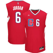 adidas Youth Los Angeles Clippers DeAndre Jordan #6 Road Red Replica Jersey