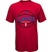 adidas Youth Los Angeles Clippers climalite Red T-Shirt