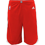 adidas Youth Los Angeles Clippers Road Red Replica Shorts