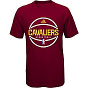 adidas Youth Cleveland Cavaliers climalite Burgundy T-Shirt