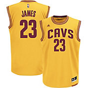 adidas Youth Cleveland Cavaliers LeBron James #23 Alternate Gold Replica Jersey