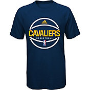 adidas Youth Cleveland Cavaliers climalite Navy T-Shirt
