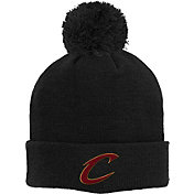 adidas Youth Cleveland Cavaliers Cuffed Pom Black Knit Hat