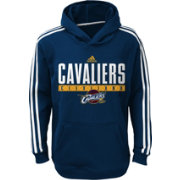 adidas Youth Cleveland Cavaliers Performance Navy Pullover Hoodie