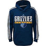 adidas Youth Memphis Grizzlies Performance Navy Pullover Hoodie