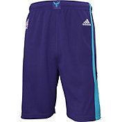 adidas Youth Charlotte Hornets Road Teal Replica Shorts