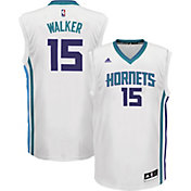 adidas Youth Charlotte Hornets Kemba Walker #15 Home White Replica Jersey