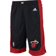 adidas Youth Miami Heat Road Black Replica Shorts