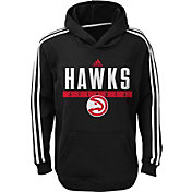 adidas Youth Atlanta Hawks Performance Black Pullover Hoodie