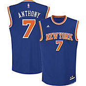 adidas Youth New York Knicks Carmelo Anthony #7 Road Royal Replica Jersey