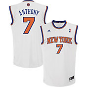 adidas Youth New York Knicks Carmelo Anthony #7 Home White Replica Jersey