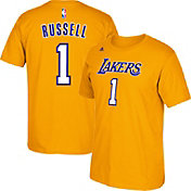 adidas Youth Los Angeles Lakers D'Angelo Russell #1 Gold T-Shirt