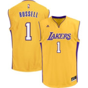 adidas Youth Los Angeles Lakers D'Angelo Russell #1 Home Gold Replica Jersey