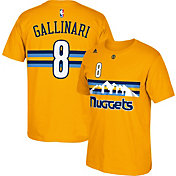 adidas Youth Denver Nuggets Danilo Gallinari #8 Gold T-Shirt