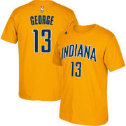 adidas Youth Indiana Pacers Paul George #13 Gold T-Shirt