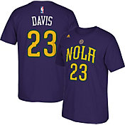 adidas Youth New Orleans Pelicans Anthony Davis #23 Navy Performance T-Shirt