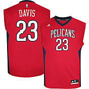 adidas Youth New Orleans Pelicans Anthony Davis #23 Alternate Red Replica Jersey