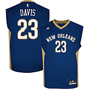 adidas Youth New Orleans Pelicans Anthony Davis #23 Road Navy Replica Jersey