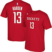 adidas Youth Houston Rockets James Harden #13 Red T-Shirt