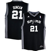 adidas Youth San Antonio Spurs Tim Duncan #21 Road Black Replica Jersey