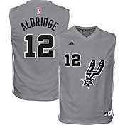 adidas Youth San Antonio Spurs LaMarcus Aldridge #12 Grey Jersey