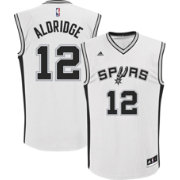 adidas Youth San Antonio Spurs LaMarcus Aldridge #12 Home White Replica Jersey