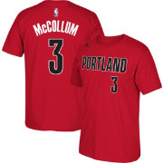 adidas Youth Portland Trail Blazers C.J. McCollum #3 Red T-Shirt