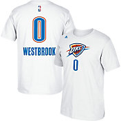 adidas Youth Oklahoma City Thunder Russell Westbrook #0 White Performance T-Shirt