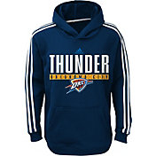 adidas Youth Oklahoma City Thunder Performance Navy Pullover Hoodie