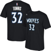 adidas Youth Minnesota Timberwolves Karl-Anthony Towns #32 Black T-Shirt