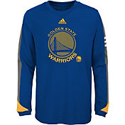adidas Youth Golden State Warriors Royal Long Sleeve Shirt