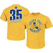 Majestic Youth Golden State Warriors Kevin Durant #35 Gold T-Shirt