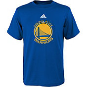 adidas Youth Golden State Warriors Primary Logo Royal T-Shirt