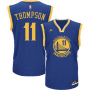 adidas Youth Golden State Warriors Klay Thompson #11 Road Royal Replica Jersey