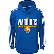 adidas Youth Golden State Warriors Performance Royal Pullover Hoodie