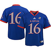 adidas Youth Kansas Jayhawks Blue #16 Replica Jersey