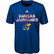 adidas Youth Kansas Jayhawks Blue In Motion T-Shirt