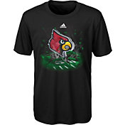 adidas Youth Louisville Cardinals High Impact Black T-Shirt