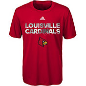 adidas Youth Louisville Cardinals Cardinal Red In Motion T-Shirt
